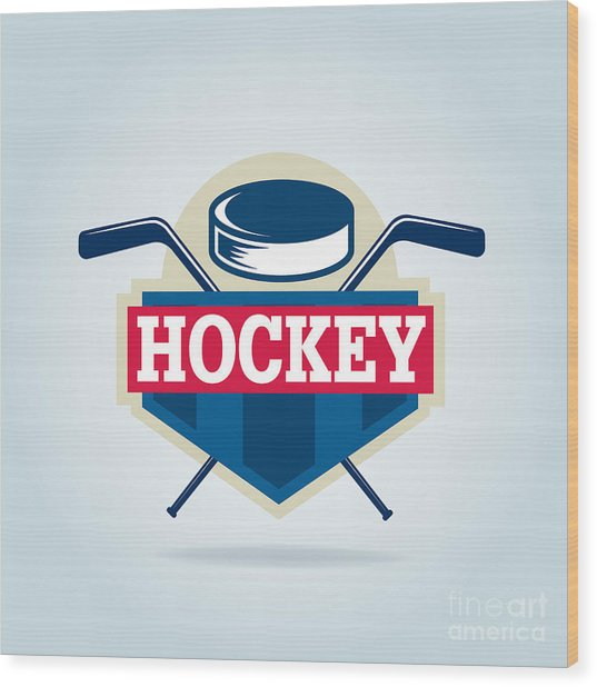 Hockey Logo,sport Wood Print