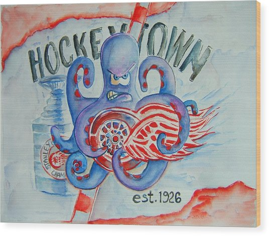 Hockeytown Wood Print