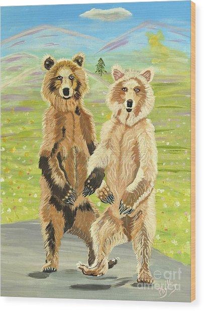Hoedown On The Tundra Wood Print