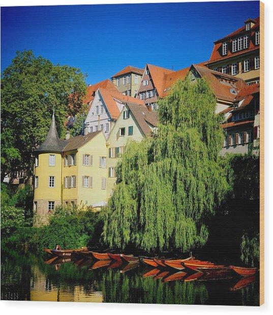 Hoelderlin Tower In Lovely Tuebingen Germany Wood Print
