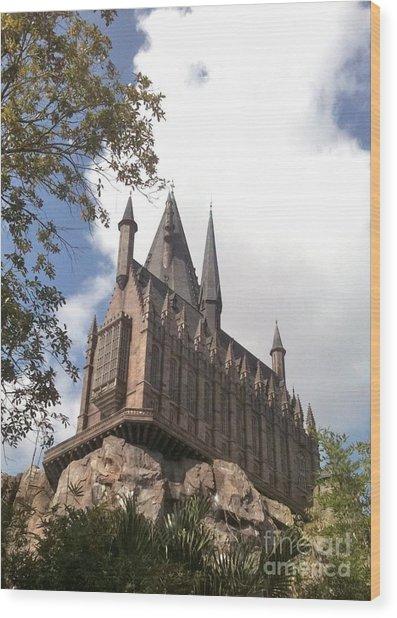 Hogwarts On High Wood Print