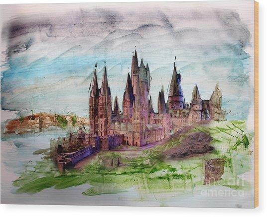Hogwarts Wood Print