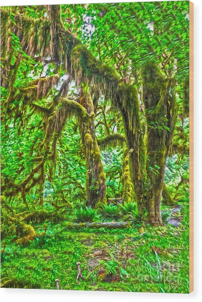 Hoh rainforest spooky trees painting by gregory dyer for Gregory s jewelry greensboro nc