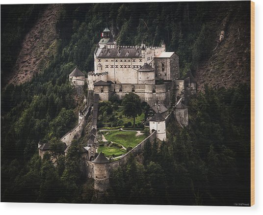 Wood Print featuring the photograph Hohenwerfen Castle by Ryan Wyckoff