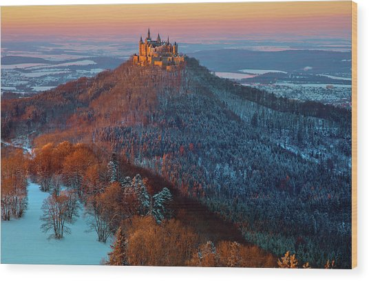 Hohenzollern In  Winter Mood Wood Print