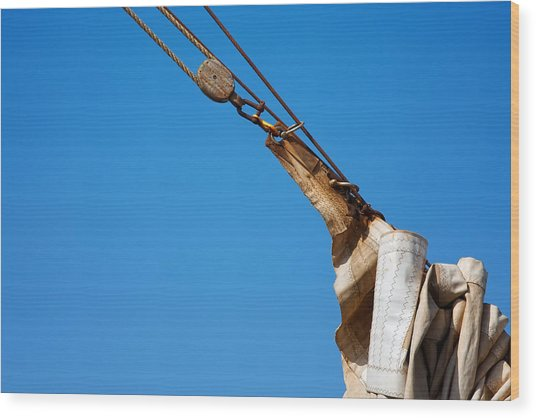 Hoist The Sails. Wood Print