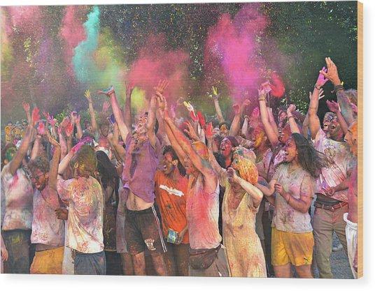 Holi Color Festival Wood Print
