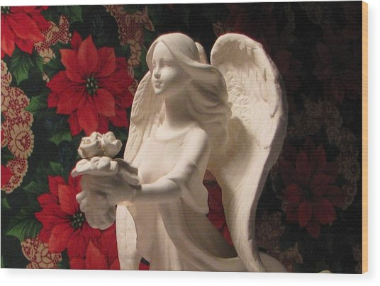 Holiday Childrens  Angel  Wood Print