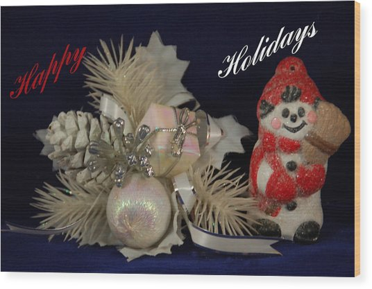 Holiday Greeting Wood Print