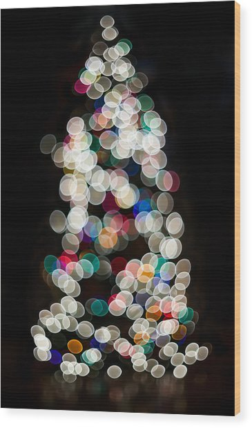 Holiday In Color Wood Print