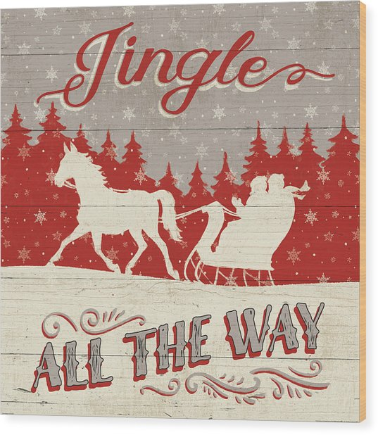 Holiday In The Woods I Wood Print by Janelle Penner