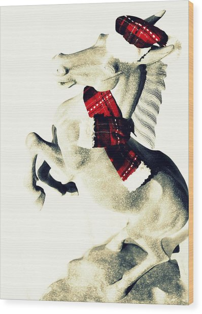 Holiday Plaid Wood Print by JAMART Photography