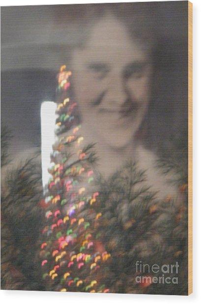 Holiday Reflection Wood Print