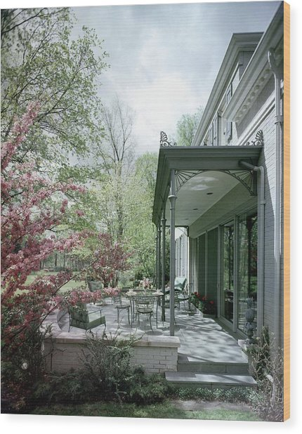Hollis Baker's Patio Wood Print