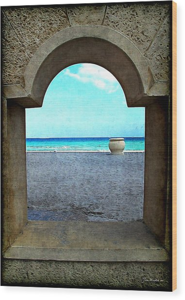 Hollywood Beach Arch Wood Print