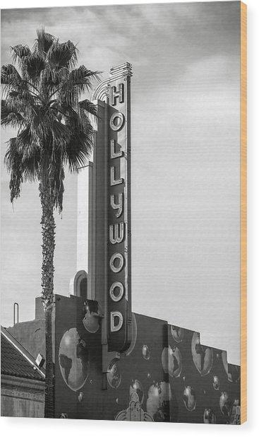 Hollywood Landmarks - Hollywood Theater Wood Print