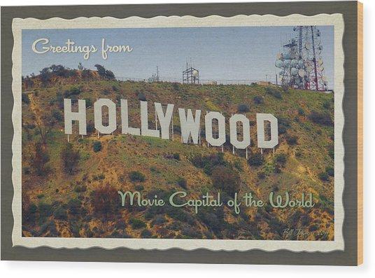 Hollywood Postcard Wood Print by Bill Jonas
