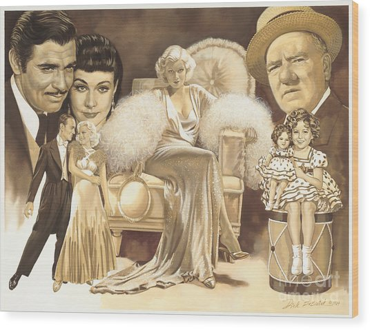 Hollywoods Golden Era Wood Print