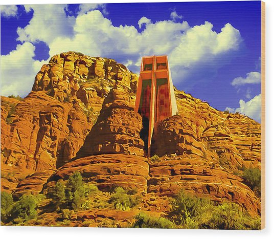 Holy Cross Chapel Coconino National Forest Wood Print