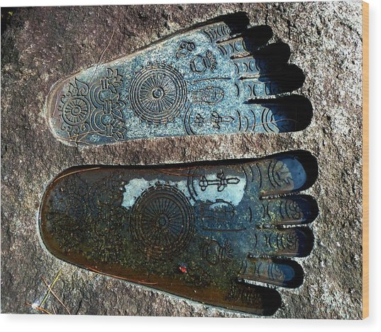 Holy Feet Wood Print