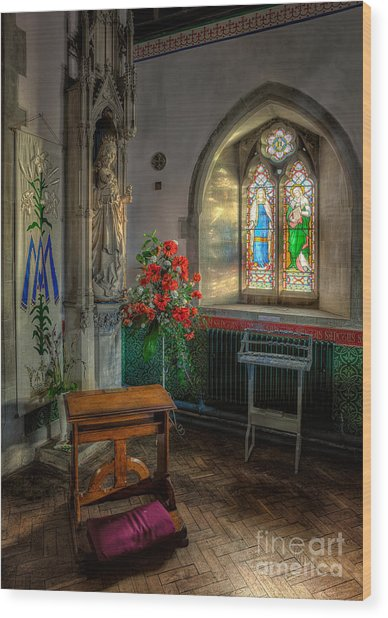 Holy Ground Wood Print