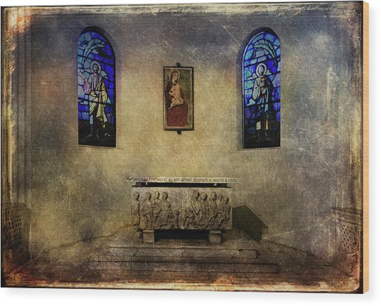 Holy Grunge Wood Print