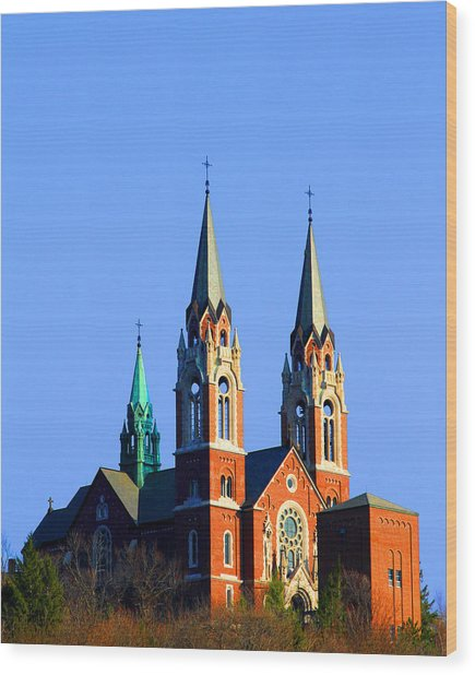 Holy Hill  Wood Print by James Hammen