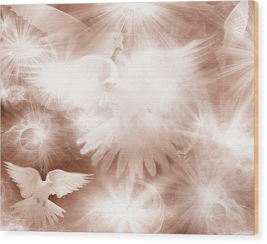 Holy Light Wood Print