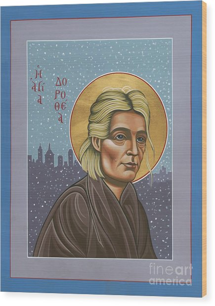 Holy Prophet Dorothy Day 154 Wood Print