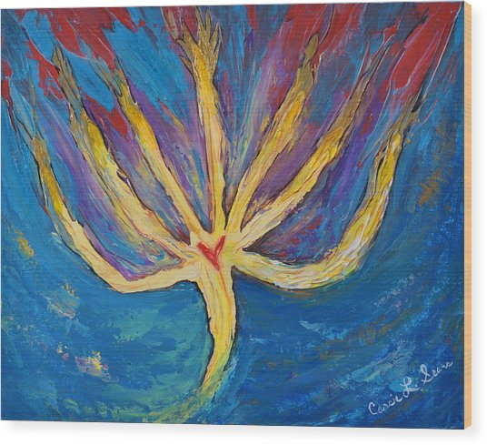 Holy Spirit Which Dwells In You Wood Print