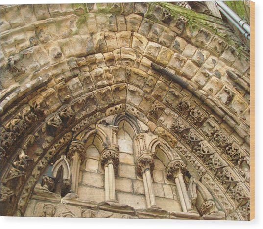 Holyrood Abbey Ruins Arch Photograph By Kristine Crook