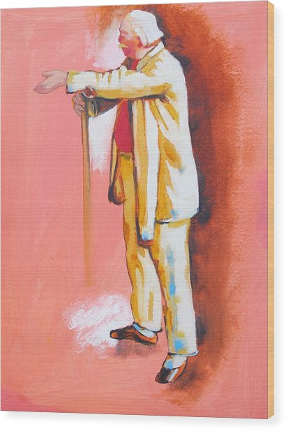 Homage To Master Degas The Dancemaster Jules Perrot Wood Print by Susi Franco