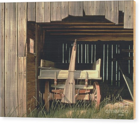 Misner's Wagon Wood Print by Michael Swanson