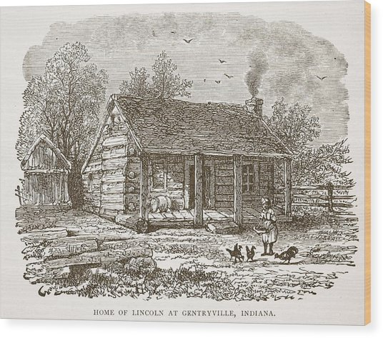 Home Of Lincoln At Gentryville Wood Print