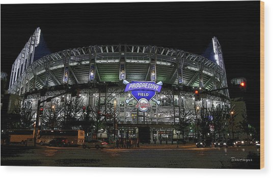Home Of The Cleveland Indians Wood Print