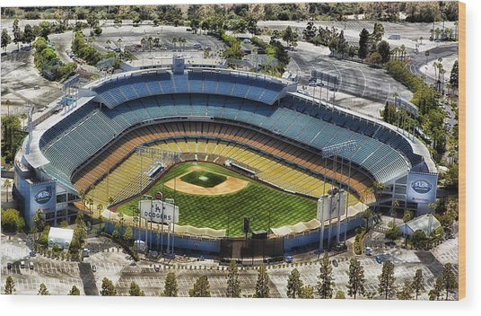Home Of The Los Angeles Dodgers Wood Print