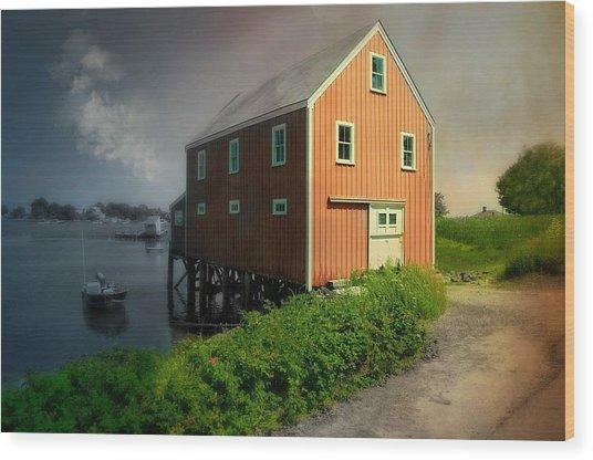 Home On Cape Porpoise Wood Print