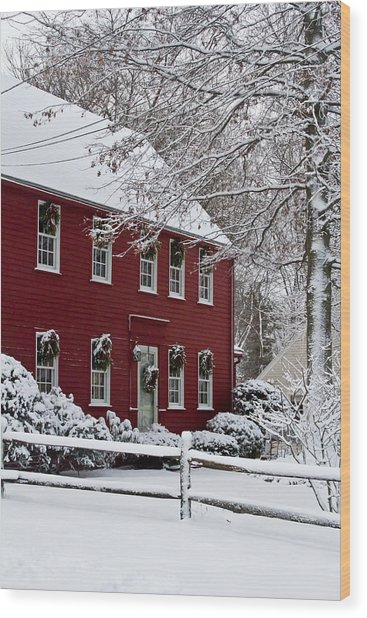 Home Sweet Home Wood Print by Kristine Patti