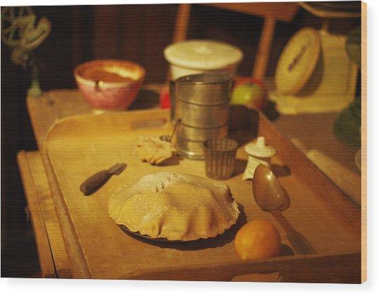 Homemade Pie Wood Print