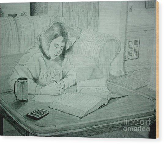 Homework Wood Print