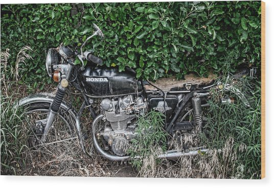 Honda 450 Motorcycle Wood Print