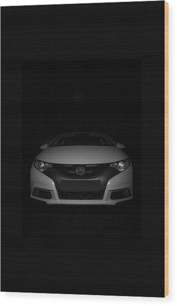 Honda Civic Wood Print