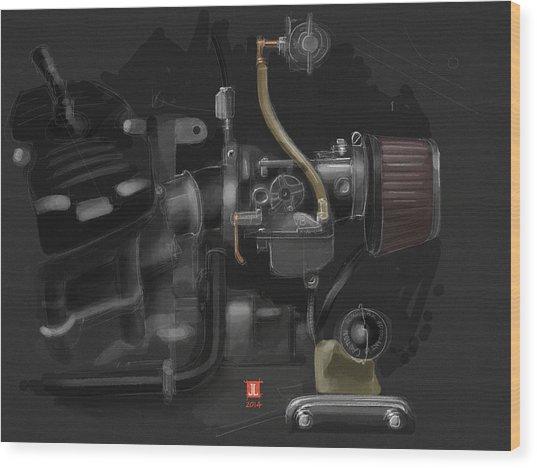 Honda Cx500 Carb Wood Print