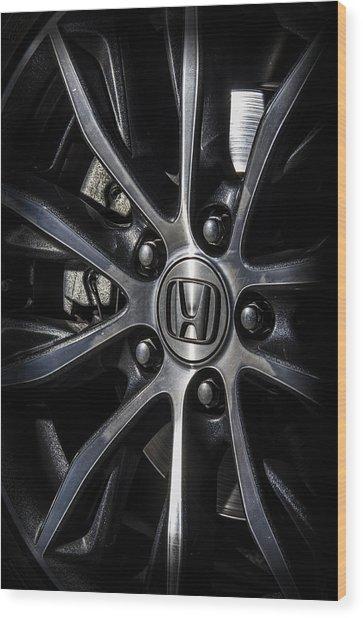 Honda Wheel Wood Print