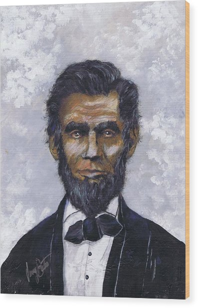 Honest Abe Wood Print