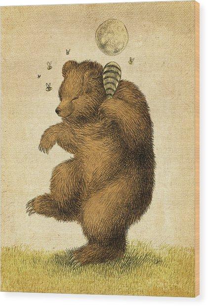 Honey Bear Wood Print