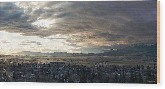 Honey Lake Valley Sunrise Wood Print by The Couso Collection