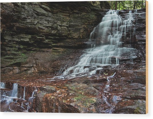 Honey Run Falls Wood Print