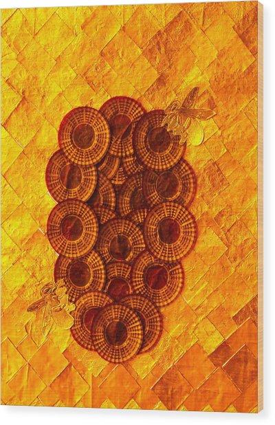 Honeybee 2 Wood Print