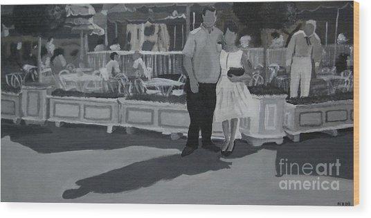 Honeymoon On Main St. Wood Print